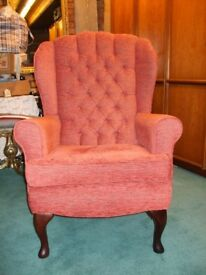 Fireside Armchair (Terracotta)