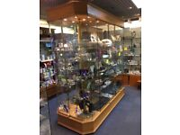 Retail Shop Display Unit / Cabinet - Central Unit - Full Glass Display Unit - All 4 Sides