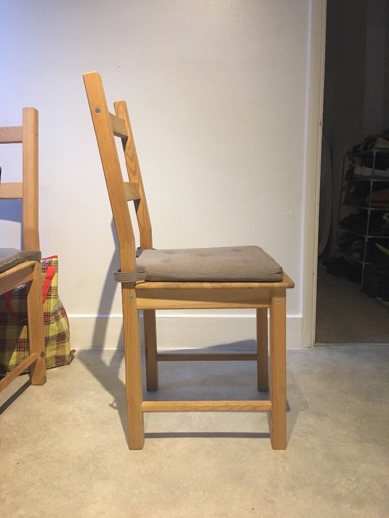 4 Identical Chairs Cushions For Sale