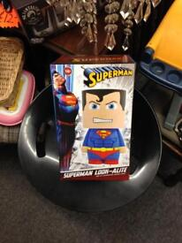 Superman look-alite lamp bedside table light night reading