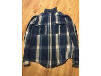 Blue&White long sleeve flannel size 12