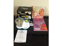 Tommee Tippee Baby Food Blender. Good condition. Incl. 2 baby food books