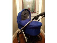 Mamas and Papas Carrycot in Graffiti Blue - Sola -RRP £149
