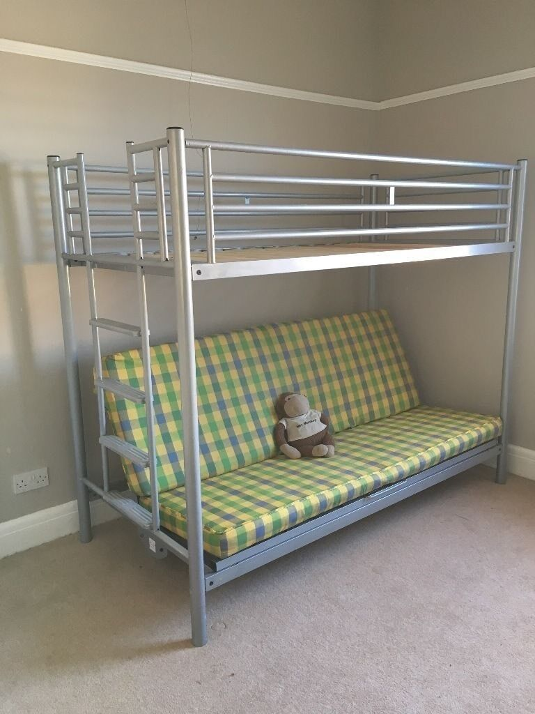 Bunk Bed With Double Futon Cabin Sofa