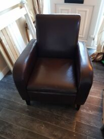 Leather arm chair for sale