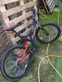 Full suspension 26' mountain bike £10