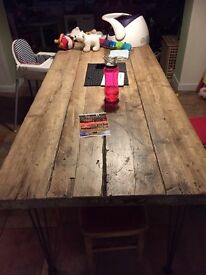 Handmade Rustic Industrial Dining Table