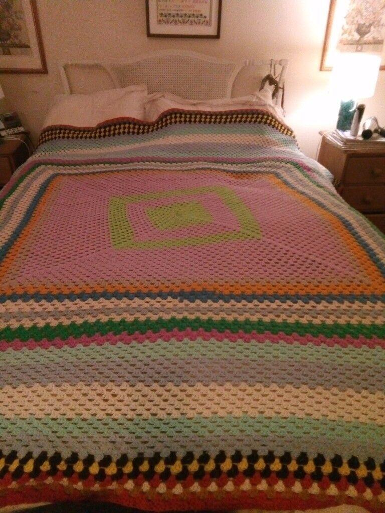 Large crochet blanket double king