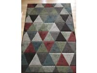 Good condition geometrical rug - large