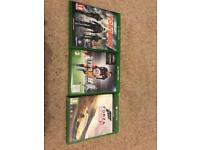 3 x xbox one games