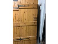 High quality ledged and braced doors