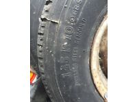 Mini size wheels with tyres 145/R10.