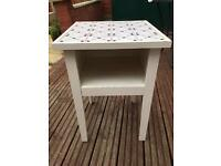 Ikea White side table with a tile top