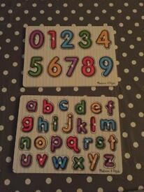 Melissa and Doug letter and number puzzle