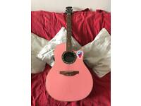 Ovation Applause Electro Acoustic Pink Guitar