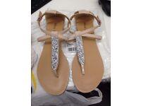 JERSEY Nude Flat Sandals MISS KG (Kurt Geiger) Brand New