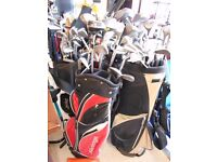 Large quantity of golf clubs/bags - Dunlop/Lynx/Slazenger and more