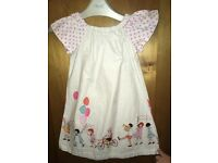 GIRL Cotton Dress With Party Designed Hem By BETSY BOO : 2 - 3 - 4 Years