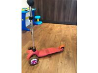 Pink mini micro scooter for sale - Used but plenty of life left in it!