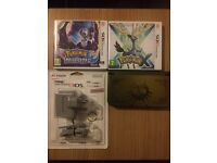 RARE New Nintendo 3DS XL Majoras Mask Special Edition [GOLD] + Pokemon X, Pokemon Moon + 3DS Charger
