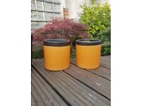 Two matching plant pots