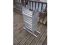 Folding Aluminium Multi Purpose Extending Ladders - Multi position Stepladder Extendable 3.6m Ladder