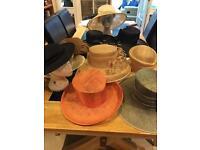 Joblot 11 Wedding Hats New & Used including 2 designer brands