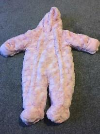 Pink 3-6 month snow suit and jacket