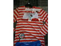 Fancy dress where's wally 11-12 yrs £5
