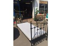 Victorian French Cast Iron Single Bed