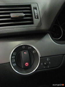 AUDI A4 B6 B7 8E Cabrio 8H Aluring Alu Lichtschalter QUATTRO S-LINE S4 RS4 SPORT