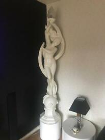 6ft statuesque lady lamp