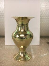 Antique brass vase 16cm