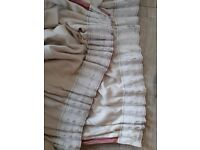 Full Length 7 foot long, lined, pink curtains (would suit french/patio doors)
