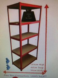 Red Heavy Duty Storage Rack