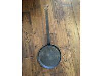 cast iron Crêpe pan, vintage