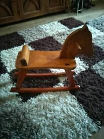 W.A. MILLS wooden rocking horse