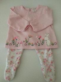 Baby Girls Pink Trouser Set
