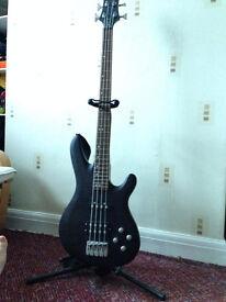 Black Knight CB-10 Bass Guitar/Peavey Max 158 Combo Amp/Accessories