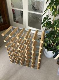 Wine rack - wood and metal for 30/35 bottles