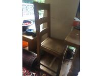 pair of dining chair hard wood