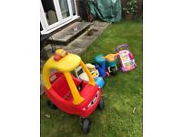 Cosy coupe and ride on toys