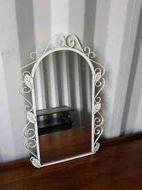 Stunning metal frame mirror to be hung on the wall. Excellent condition