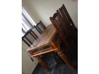 Solid Indian Wood (Cast Ironed) Table