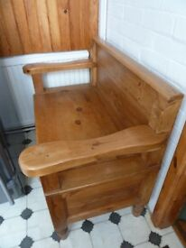 Pew/Monks Seat with Storage