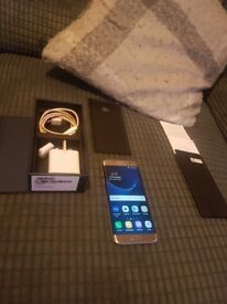 Samsung gold s7 edge boxed & accessories