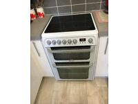 White Hotpoint Double Oven 60cm New Cooker