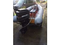 Flatacraft Force 4 4m RIB + 40hp Mercury 2 Stroke Outboard - Power Boat