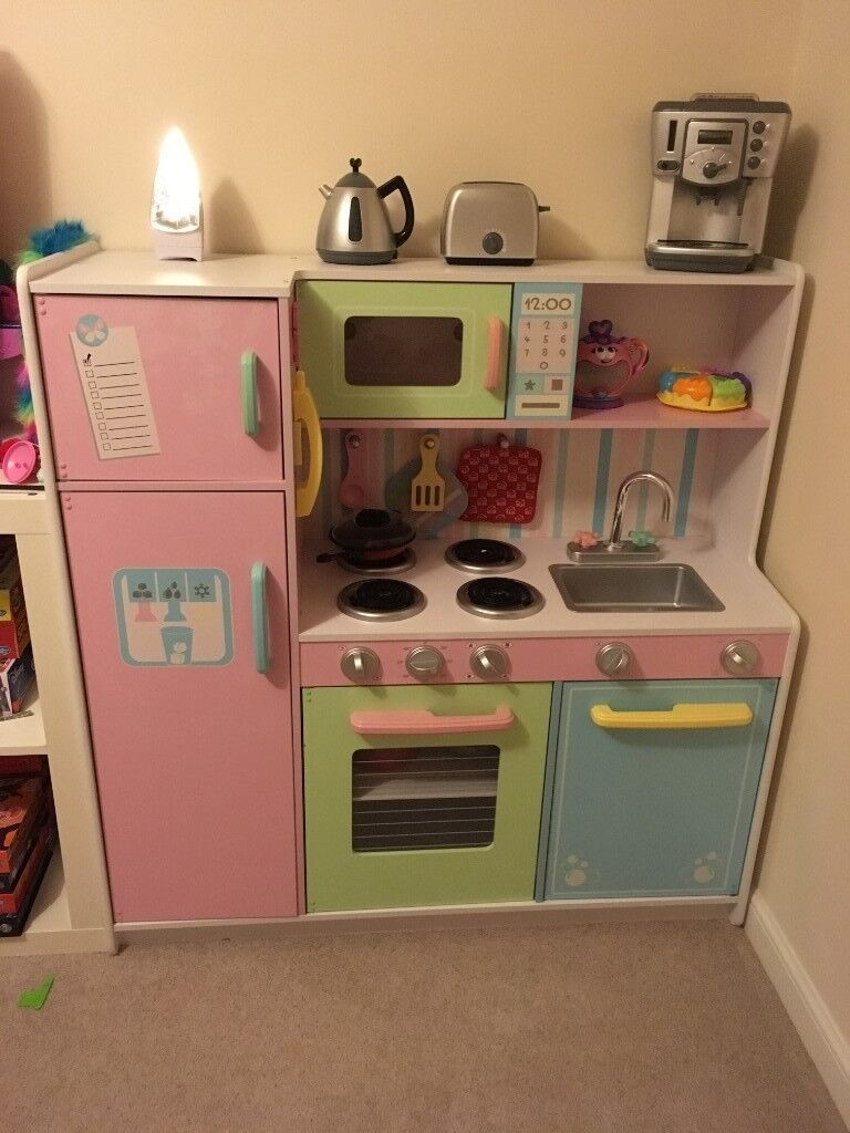 Kidkraft Deluxe Culinary Kitchen 3 Years With 2 Drums Of Food And Optional