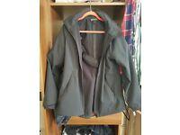 Mamalila Allweather Jacket Softshell S/M Black (for maternity, babywearing and post baby jacket)